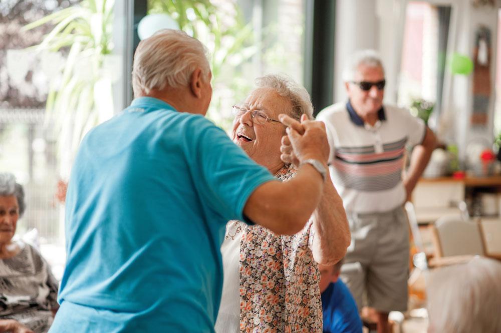 Memory Care residents dancing